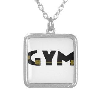 Colar Banhado A Prata Gym e malhação