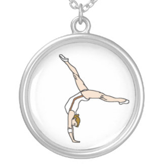 Colar Banhado A Prata Gymnast
