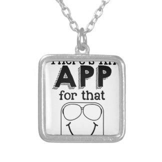 Colar Banhado A Prata Há um app para aquele