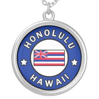 Colar Banhado A Prata Honolulu Havaí