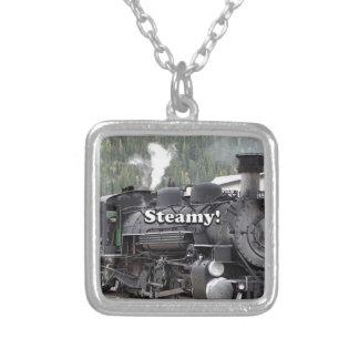Colar Banhado A Prata Húmido!: motor do trem do vapor, Colorado, EUA