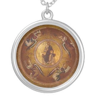Colar Banhado A Prata Ícone cristão de Pantakrator do Jesus Cristo