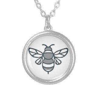 Colar Banhado A Prata Ícone da abelha do zangão