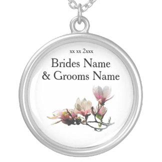 Colar Banhado A Prata Ideias elegantes simples modernas do casamento da