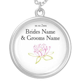 Colar Banhado A Prata Ideias elegantes simples modernas do casamento do