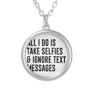 Colar Banhado A Prata Ignore textos