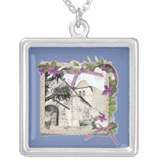Colar Banhado A Prata Igreja velha em France/Auvergne/Cantal
