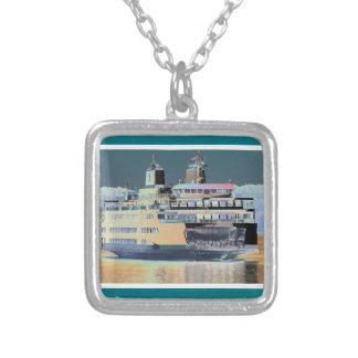 Colar Banhado A Prata Ilha de San Juan da balsa do porto de sexta-feira