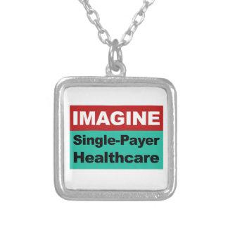Colar Banhado A Prata Imagine únicos cuidados médicos do pagador