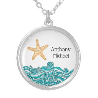 Colar Banhado A Prata Importa a esta uma estrela do mar