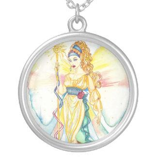 Colar Banhado A Prata Íris, deusa grega do arco-íris