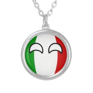 Colar Banhado A Prata Italia Geeky de tensão engraçada Countryball