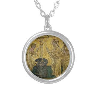 Colar Banhado A Prata Jesus e a mulher do samaritano no poço