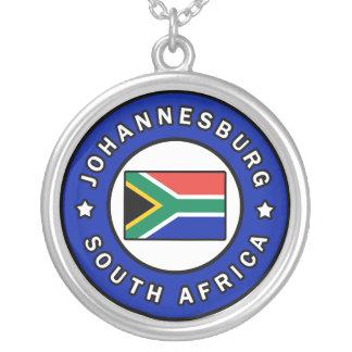 Colar Banhado A Prata Joanesburgo África do Sul