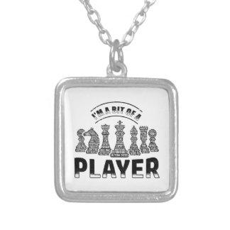 Colar Banhado A Prata Jogador de xadrez