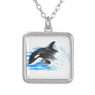 Colar Banhado A Prata Jogo da orca