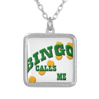 Colar Banhado A Prata Jogos do Bingo