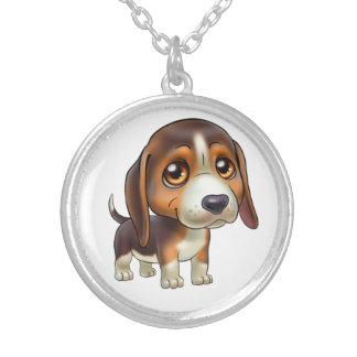 Colar Banhado A Prata Jóia dos desenhos animados do cão