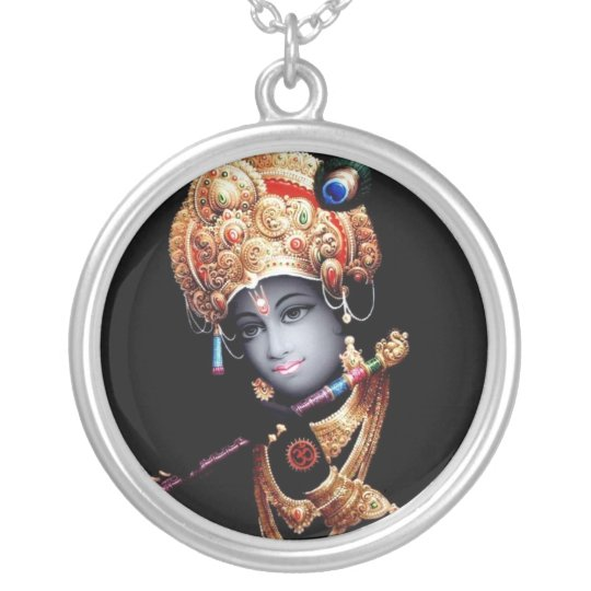 Colar Banhado A Prata Krishna