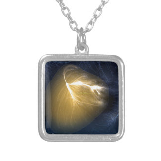 Colar Banhado A Prata Laniakea - nosso Supercluster local