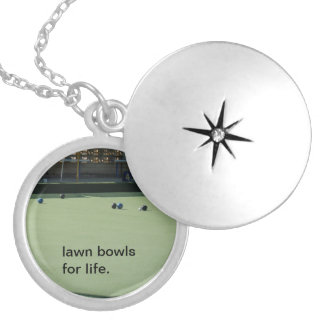 Colar Banhado A Prata Lawn_Bowls_For_Life_Silver_Necklace,