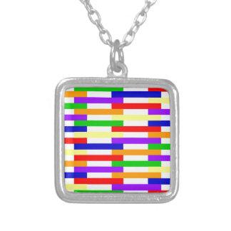 Colar Banhado A Prata linha design da Multi-cor