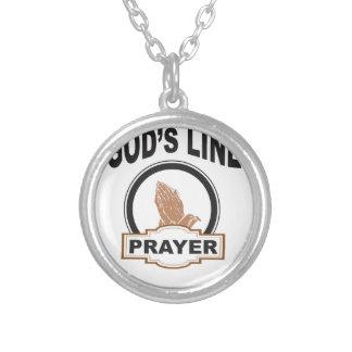 Colar Banhado A Prata linha oração dos deuses