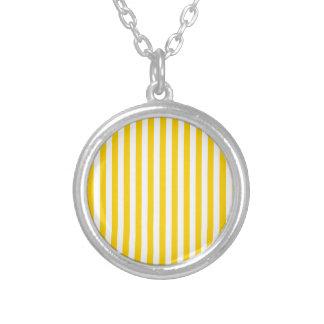 Colar Banhado A Prata Listras finas - luz - amarelas e amarelo escuro