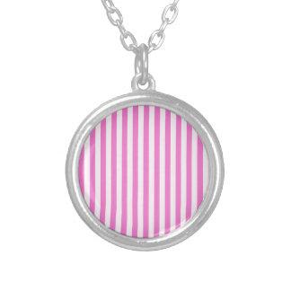 Colar Banhado A Prata Listras finas - luz - cor-de-rosa e rosa escuro