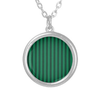 Colar Banhado A Prata Listras finas - verdes e verdes escuro