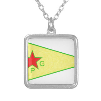 Colar Banhado A Prata logotipo 5 a do ypg