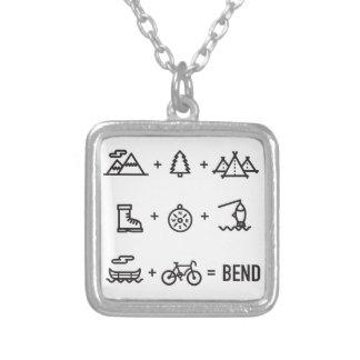 Colar Banhado A Prata Logotipo da equação das atividades de Oregon da