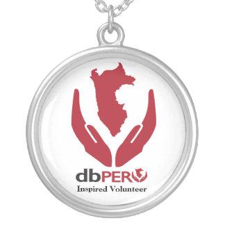 Colar Banhado A Prata Logotipo do DB Peru