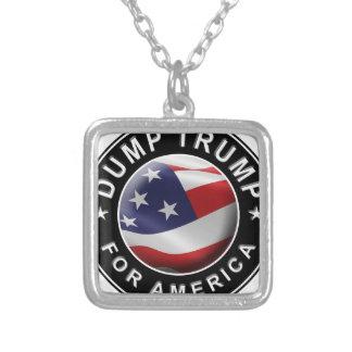 Colar Banhado A Prata Logotipo oficial de DumpTrumpforAmerica