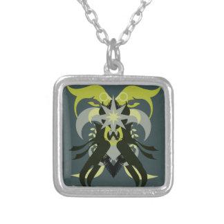 Colar Banhado A Prata Loki da abstracção sete