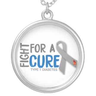 Colar Banhado A Prata Luta para uma cura para o tipo - 1 diabetes