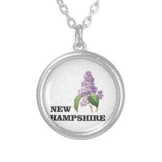 Colar Banhado A Prata mais New Hampshire