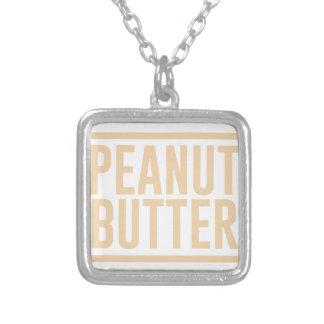 Colar Banhado A Prata Manteiga de amendoim