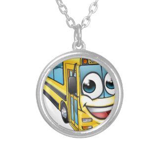 Colar Banhado A Prata Mascote do personagem de desenho animado do auto