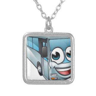 Colar Banhado A Prata Mascote do personagem de desenho animado do ônibus