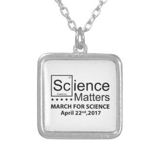 Colar Banhado A Prata Matérias da ciência