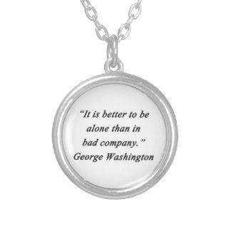 Colar Banhado A Prata Mau Empresa - George Washington