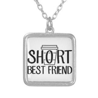 Colar Banhado A Prata Melhor amigo curto