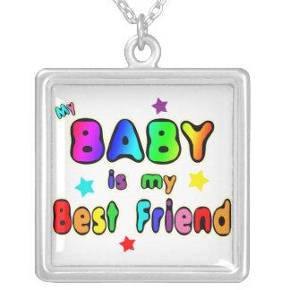 Colar Banhado A Prata Melhor amigo do bebê