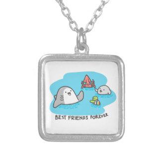 Colar Banhado A Prata Melhores amigos para sempre!