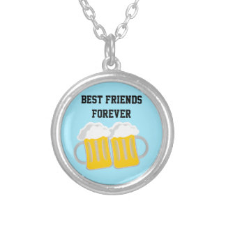 Colar Banhado A Prata Melhores amigos para sempre