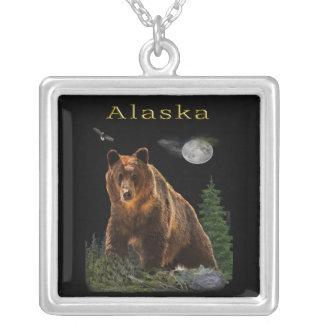 Colar Banhado A Prata Mercadoria do estado de Alaska