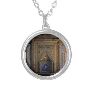 Colar Banhado A Prata Mesquita o Cairo do palácio de Manial