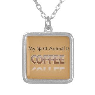 Colar Banhado A Prata Meu animal do espírito é café