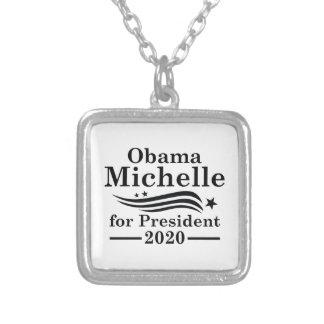 Colar Banhado A Prata Michelle Obama 2020